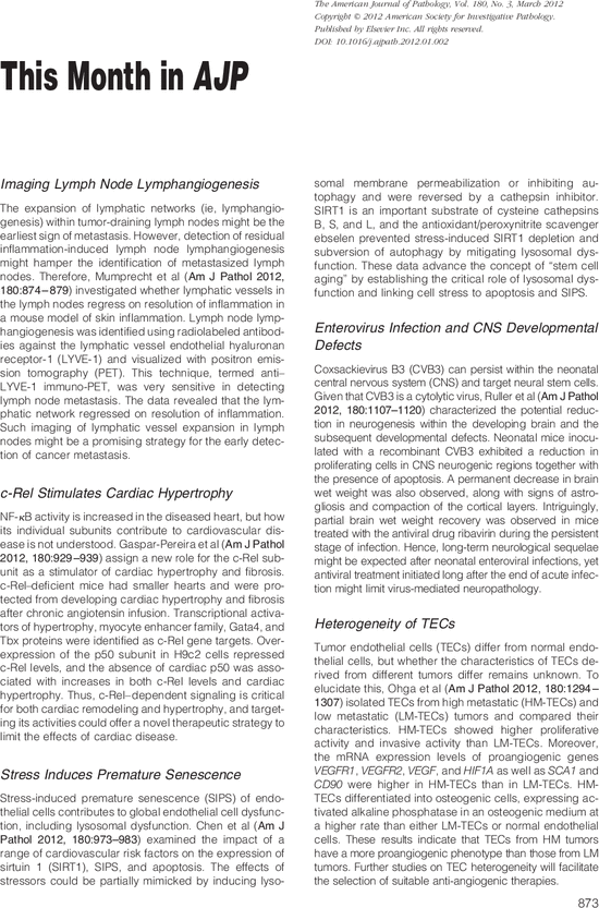 This Month in AJP - The American Journal of Pathology